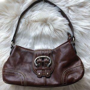Wilsons leather small hobo shoulder bag brown